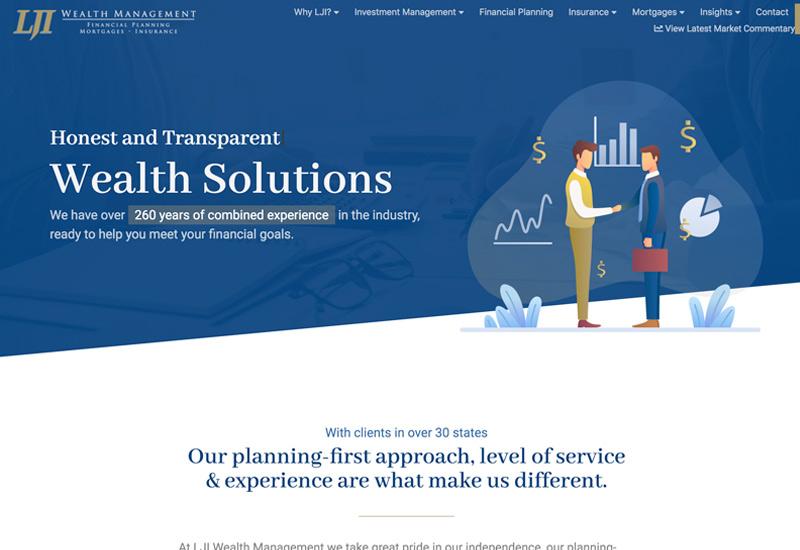 LJI Wealth Management Website Design