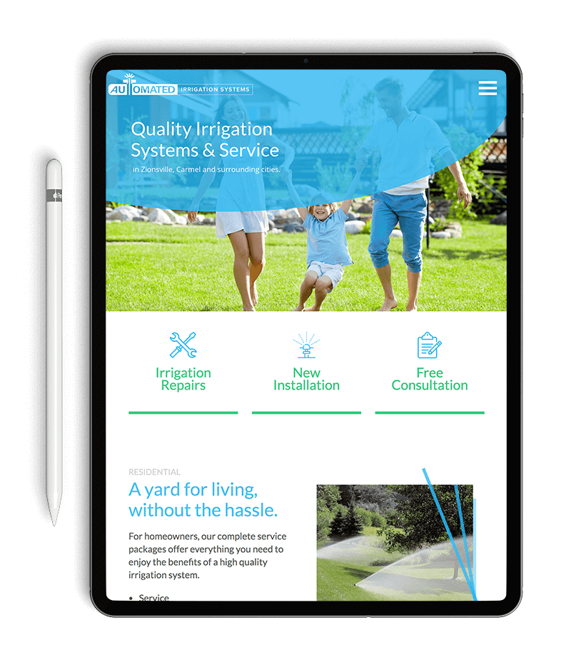 Web Design Zionsville - Automated Irrigation Systems