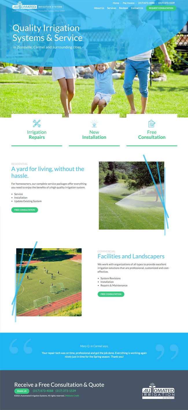 Homepage Preview - Automated Irrigation Systems