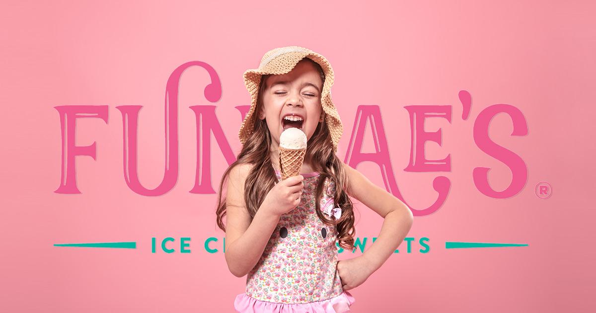 Photo of girl enjoying ice cream