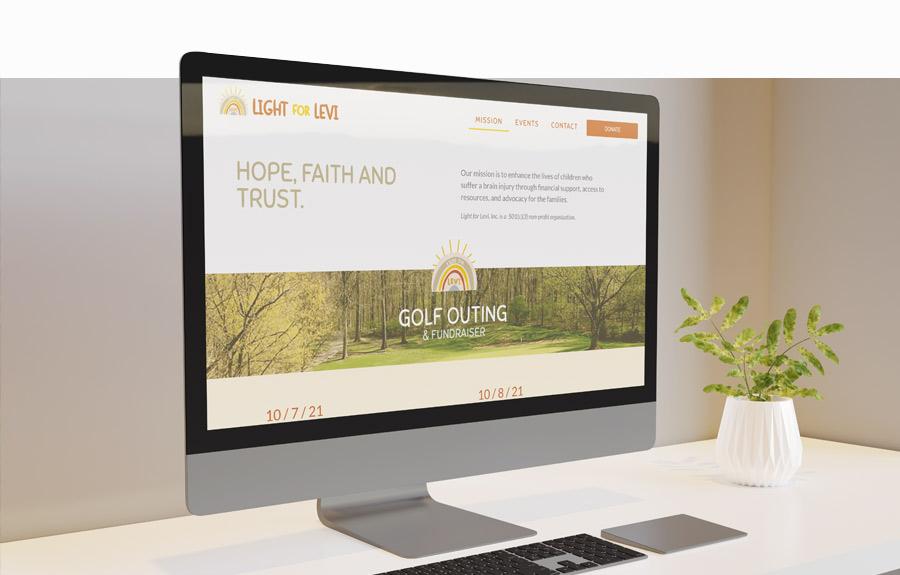 Light for Levi - Homepage design mockup