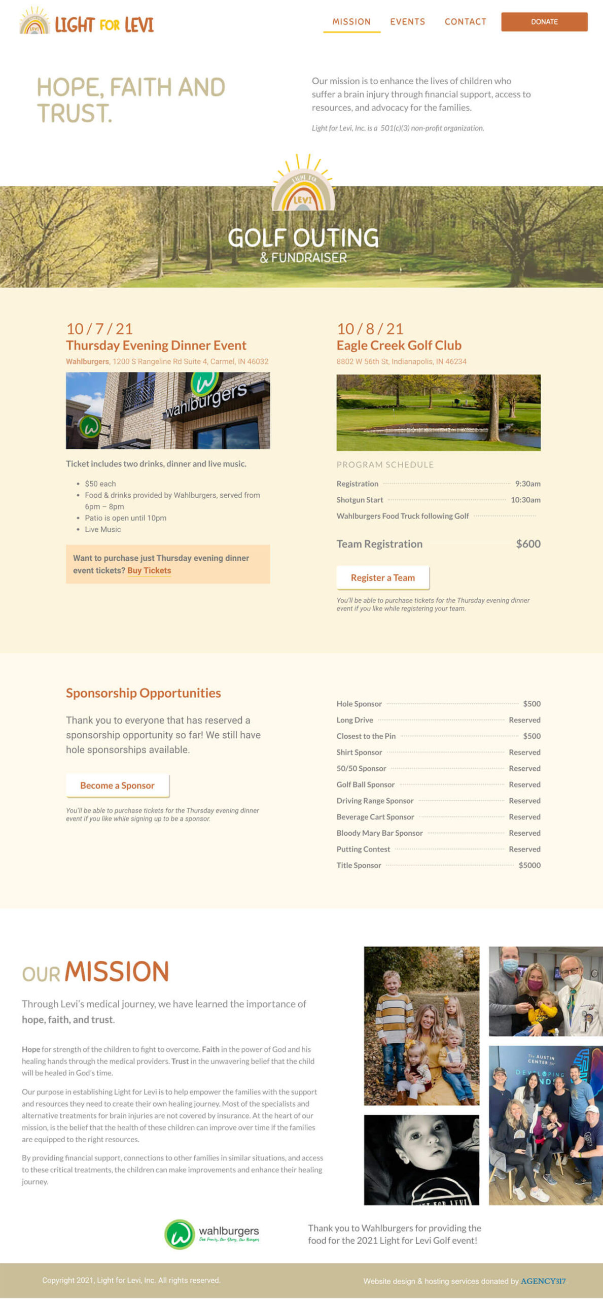 Homepage Design and Layout - Light for Levi